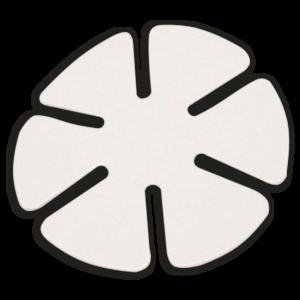 AM-133 Feltro Trevo Branco p/ CR-39