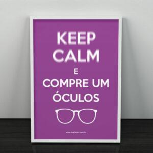 MM-574A1 Poster Keep Calm com Moldura