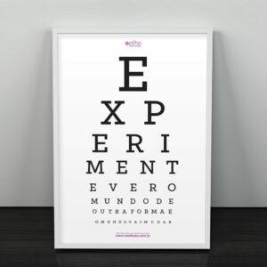 MM-574I1 Poster Exame de Visão com Moldura